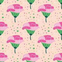 nahtloses Muster der Wildblumen vektor