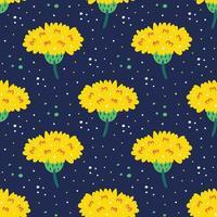 vildblommor sömlösa mönster vektor