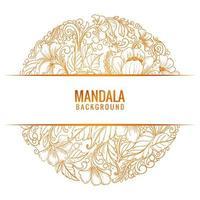 vacker dekorativ mandala bakgrundsvekto