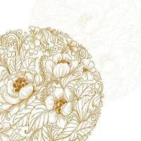 schöner dekorativer Blumenmandalahintergrund vektor