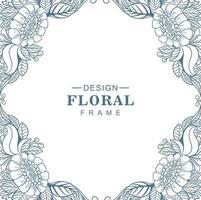dekorativ mandala cirkulär blommig ram bakgrund vektor