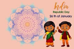 Feiertagsplakatdesign mit glücklichen Kindern