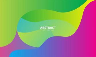 färgglad abstrakt vågig design vektor