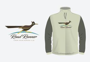 Roadrunner Illustration Kostümvorlagen vektor