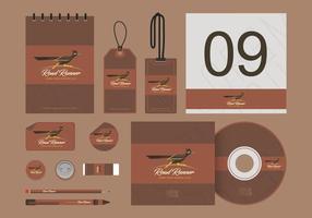 Roadrunner Illustration Corporate Identity Vorlagen vektor