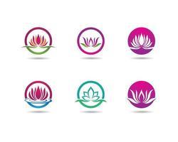 Beauty Flower Logo Set vektor