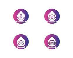 Beauty Flower Set Logo vektor