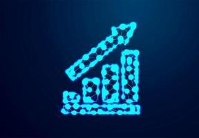 leuchtender Pfeil und Wachstumstabelle Design vektor