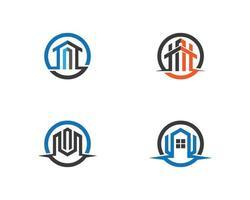 fastighetslogotyp ikon design