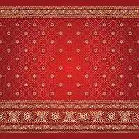 Hintergrundmuster im indischen Stil vektor