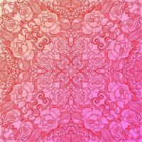 etnisk dekorativ blommönster rosa bakgrund