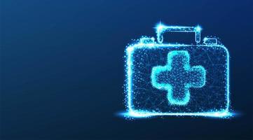 första hjälpen medicinsk box design vektor
