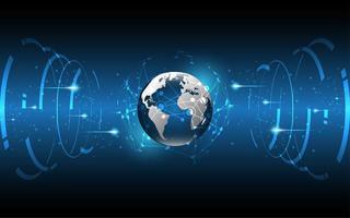 global nätverksanslutning affärsinnovation vektor