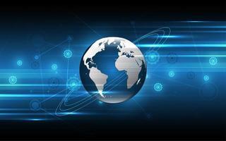 global bakgrund för nätverksanslutningsteknik vektor