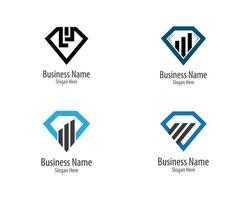 affärsfinans logotyp samling