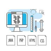 programmering och kodning konceptdesign vektor