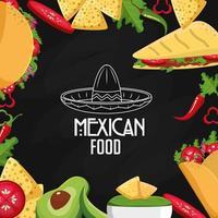 mexikansk matdesign vektor