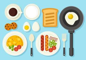 Gratis hälsosam frukost koncept vektor