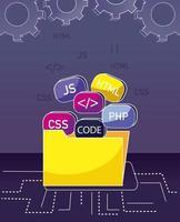 programmering och kodning koncept vektor