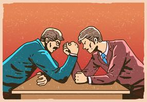 Arm Wrestling Business Wettbewerb vektor
