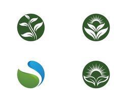 ekologi logotyp mall vektor