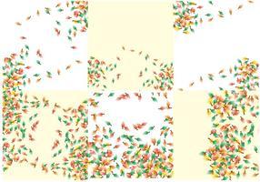 Shwooshing Blätter fallen Hintergrund Vektor