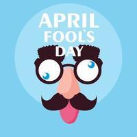 April Narrentag mit verrückten Gesichtszubehör