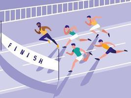 männlicher Leichtathletik-Renn-Avatar-Charakter vektor