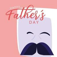 glückliche Vatertagskarte mit Herrngesicht
