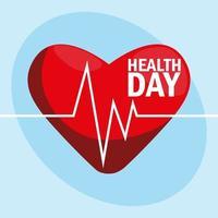Weltgesundheitstagkarte mit Herz