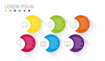 Infografik mit Geschäftssymbolen