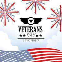 Veteranen und Gedenktag Feier Design
