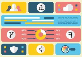 Gratis Flat Digital Marketing Vector Illustration