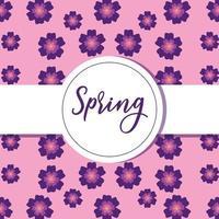 schöne Frühlingsblumenkarte vektor