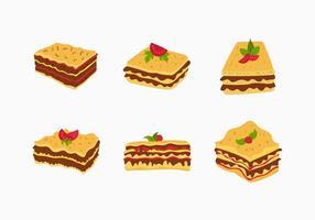 Lasagne Vektor Lebensmittel Illustration