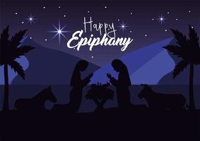 födelsedagen av Jesus gratulationskort vektor