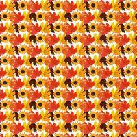 höstlöv mönster bakgrund vektor