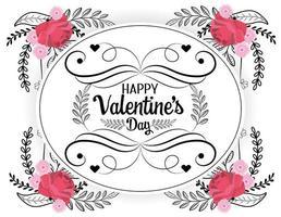 böhmische Valentinstag Grußkarte vektor