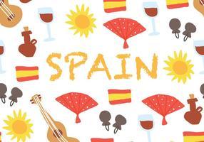 Spanischer Hintergrund vektor