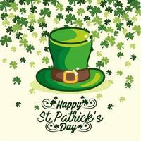 st. Patrick Day Banner mit irischen Hut und Klee vektor