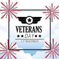veteraner och minnesdag firande design vektor