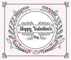 Valentinstag Grußkarte vektor