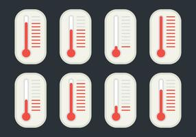 Verschiedene Temperaturlösungen vektor