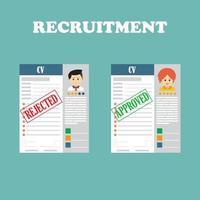 Rekrutierungskonzept für Humanressourcen vektor