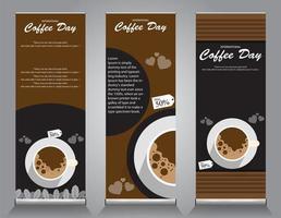 Roll-up-Banner-Design für Kaffee-Aktionen