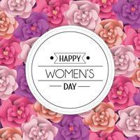 Frauengrußkarte mit Blumen vektor