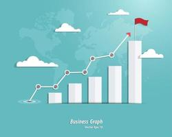 affärsgraf framgång vektor
