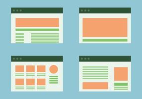 Webseiten Portal Layout Vektoren