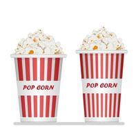 Popcorn Eimer Icon Set vektor