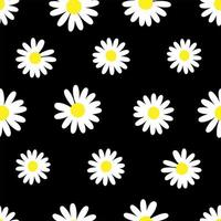 Gänseblümchenblumenhintergrundmuster vektor